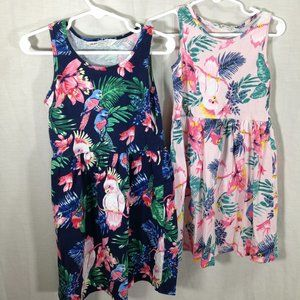 2 H&M Cotton Summer Dresses 4-5 years